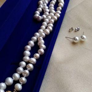 "Natural Cream FreshWater Akoya Pearls 8mm 22"""